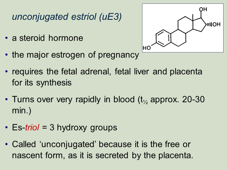unconjugated estriol (uE3)