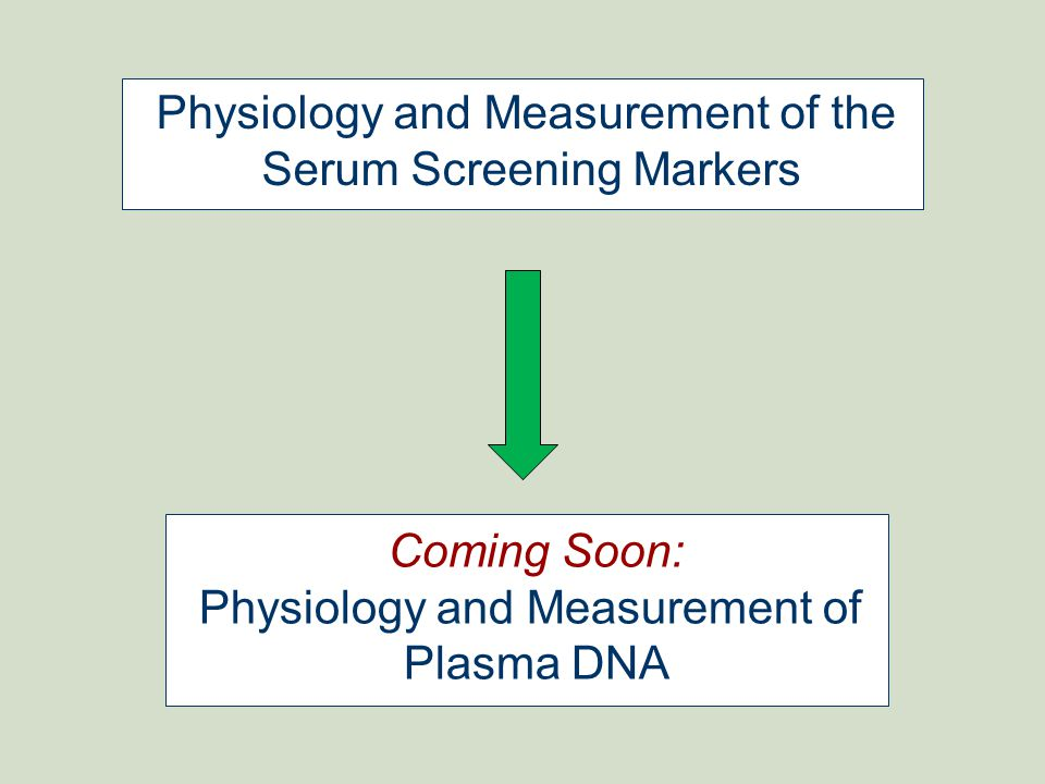 Physiology and Measurement of the Serum Screening Markers