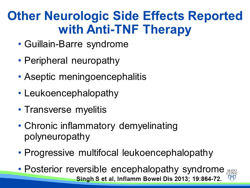 Other Neurologic Side Effects Reported with Anti-TNF Therapy