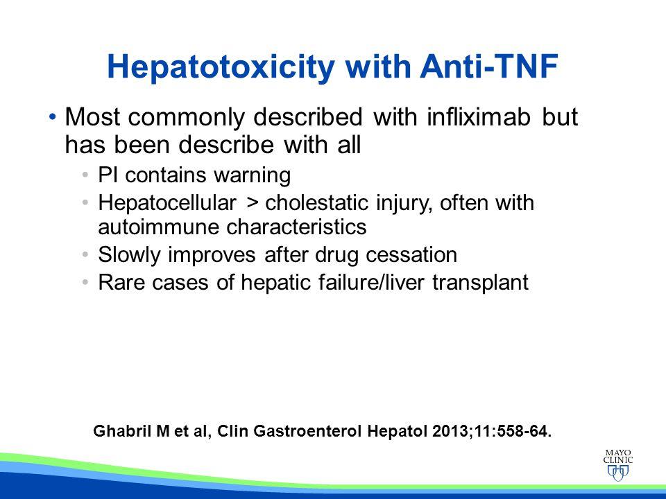 Hepatotoxicity with Anti-TNF