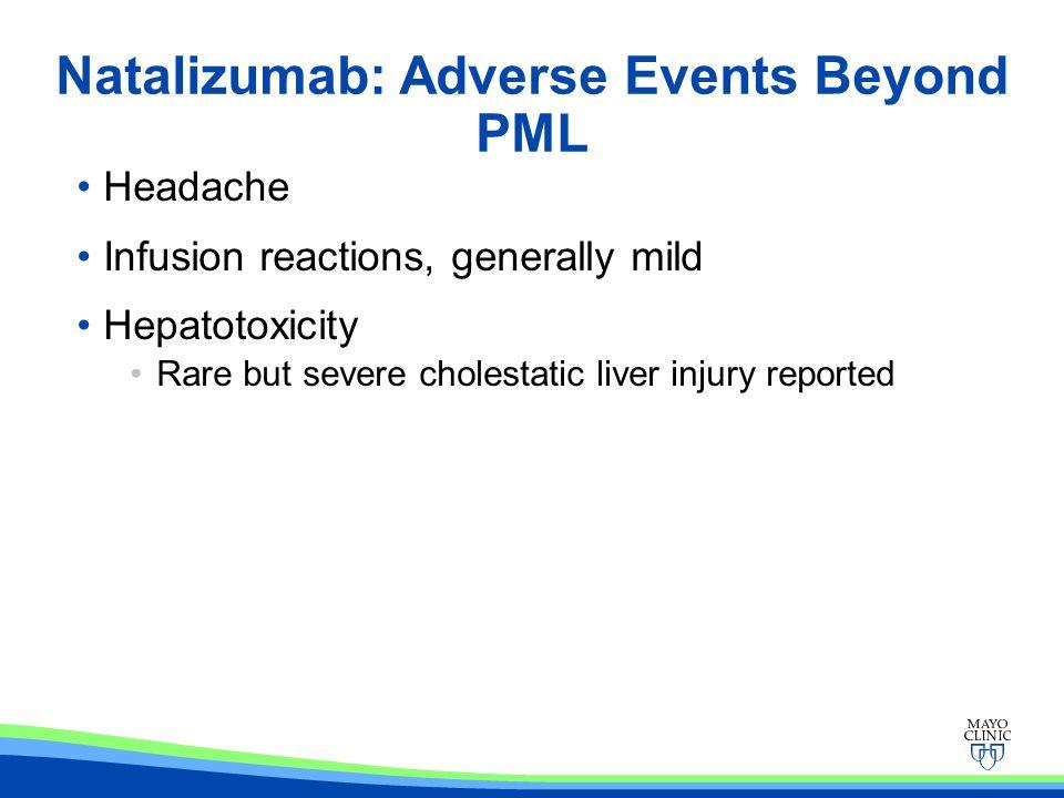 Natalizumab: Adverse Events Beyond PML