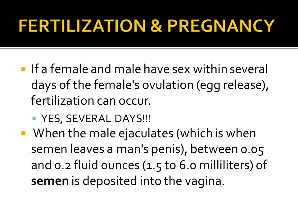 FERTILIZATION & PREGNANCY