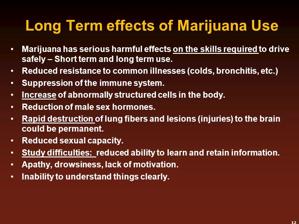 Long Term effects of Marijuana Use