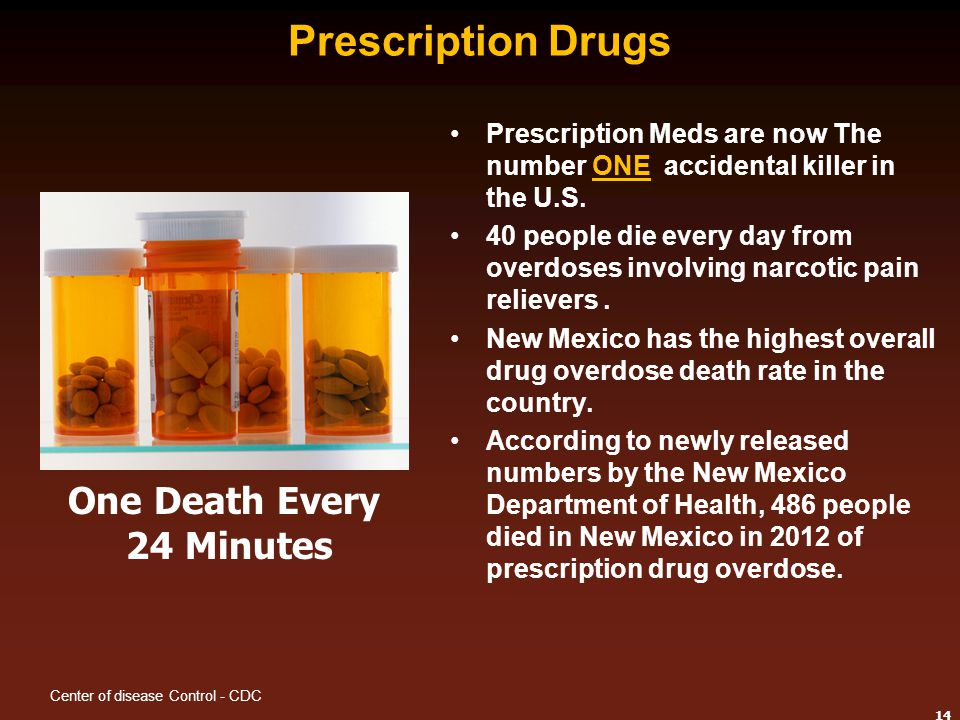 Prescription Drugs One Death Every 24 Minutes