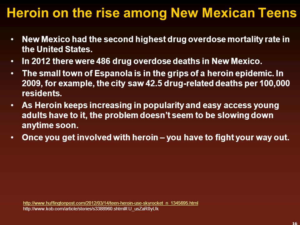 Heroin on the rise among New Mexican Teens
