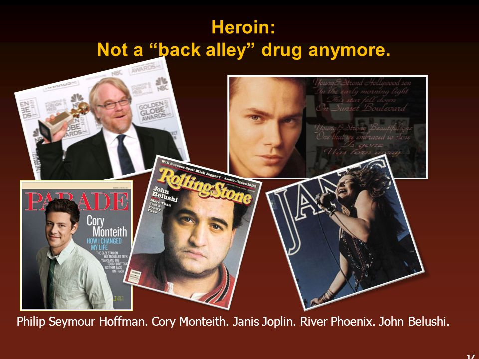 Heroin: Not a back alley drug anymore.