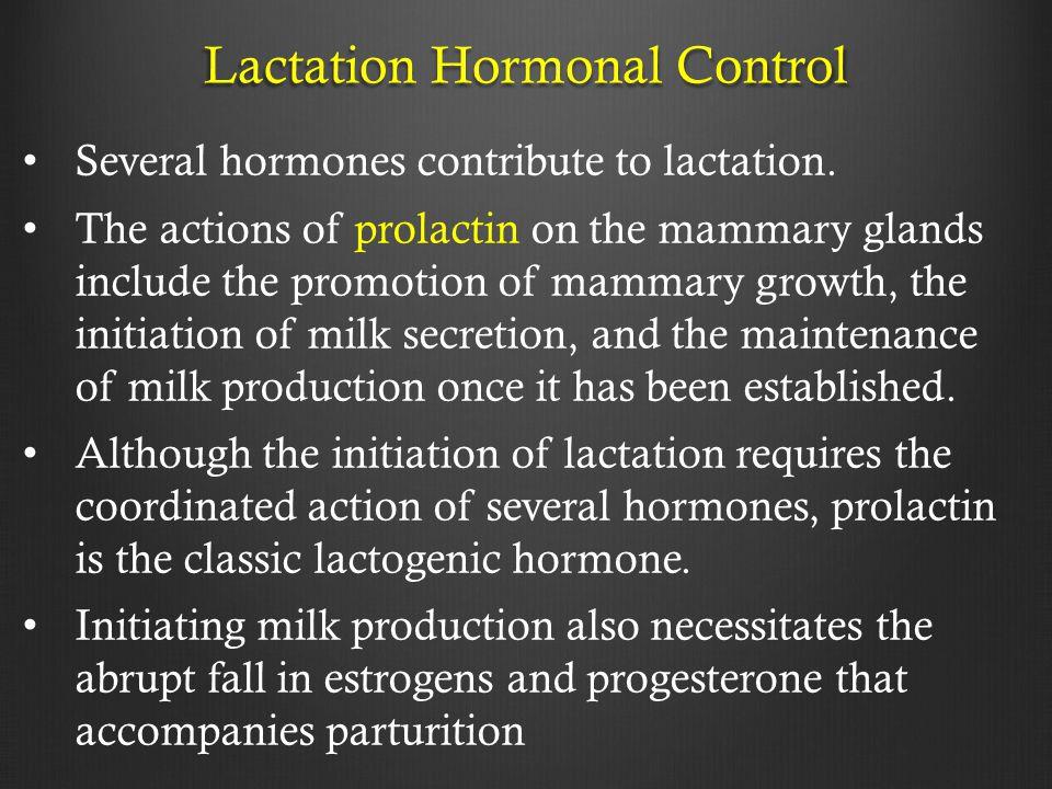 Lactation Hormonal Control