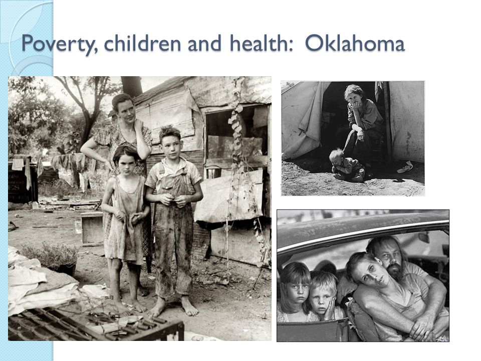 Poverty, children and health: Oklahoma