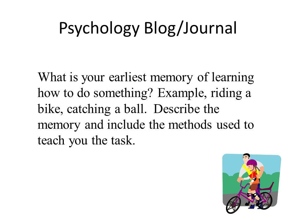 Psychology Blog/Journal