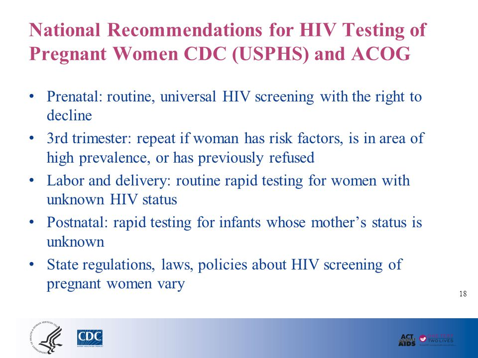 Recommendations for 3rd Trimester Repeat HIV Testing