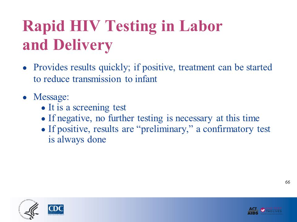 Giving Positive Rapid HIV Results in Labor