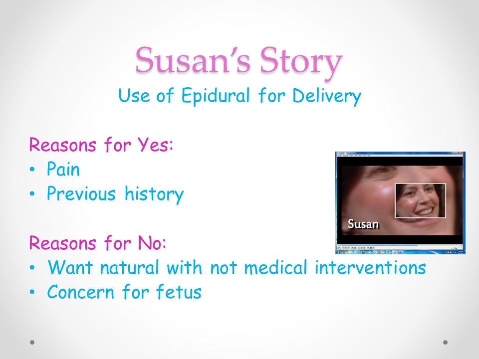Use of Epidural for Delivery