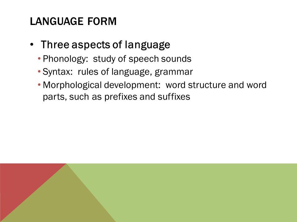 Three aspects of language