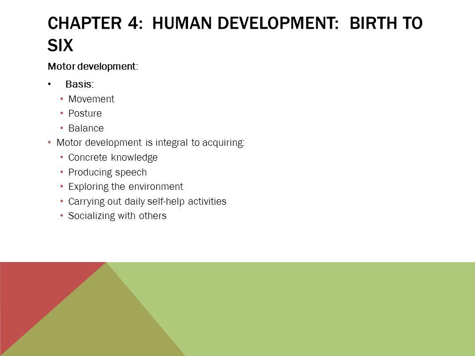 Chapter 4: Human Development: Birth to Six