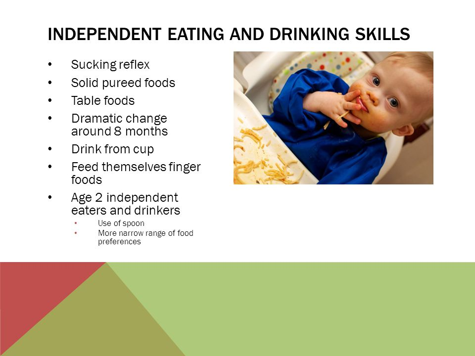 Independent eating and drinking skills