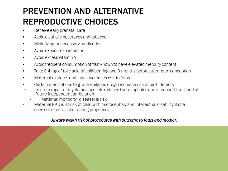 Prevention and alternative reproductive choices