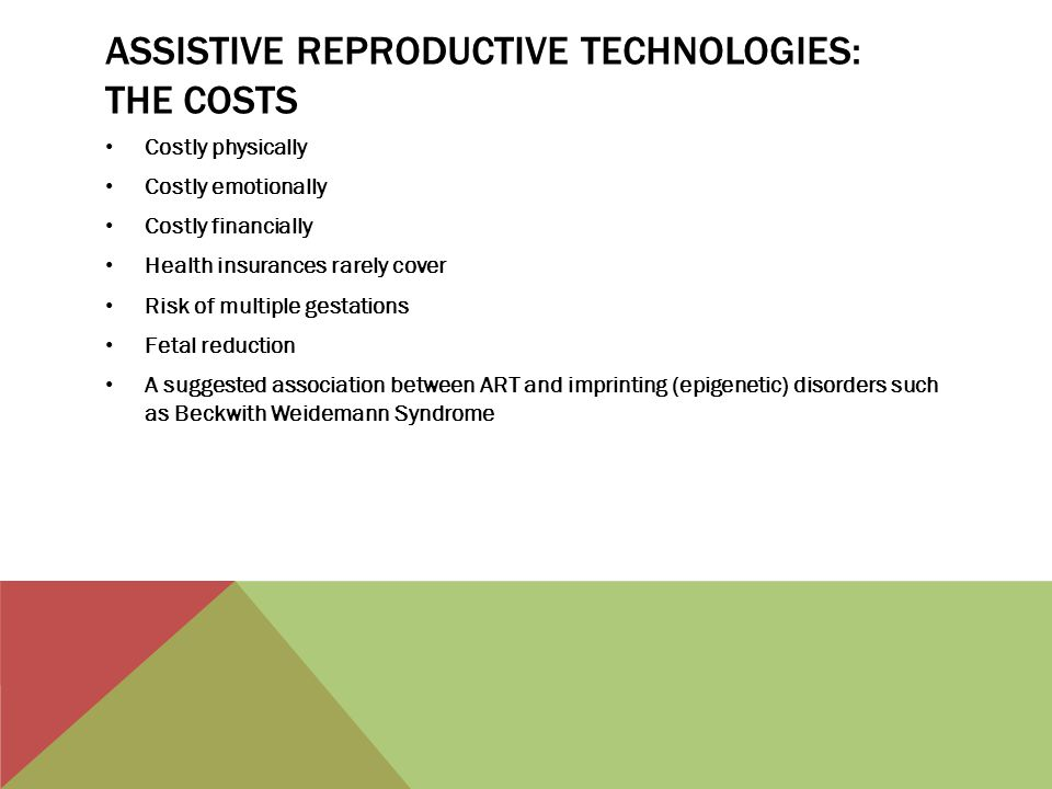 Assistive reproductive technologies: the costs
