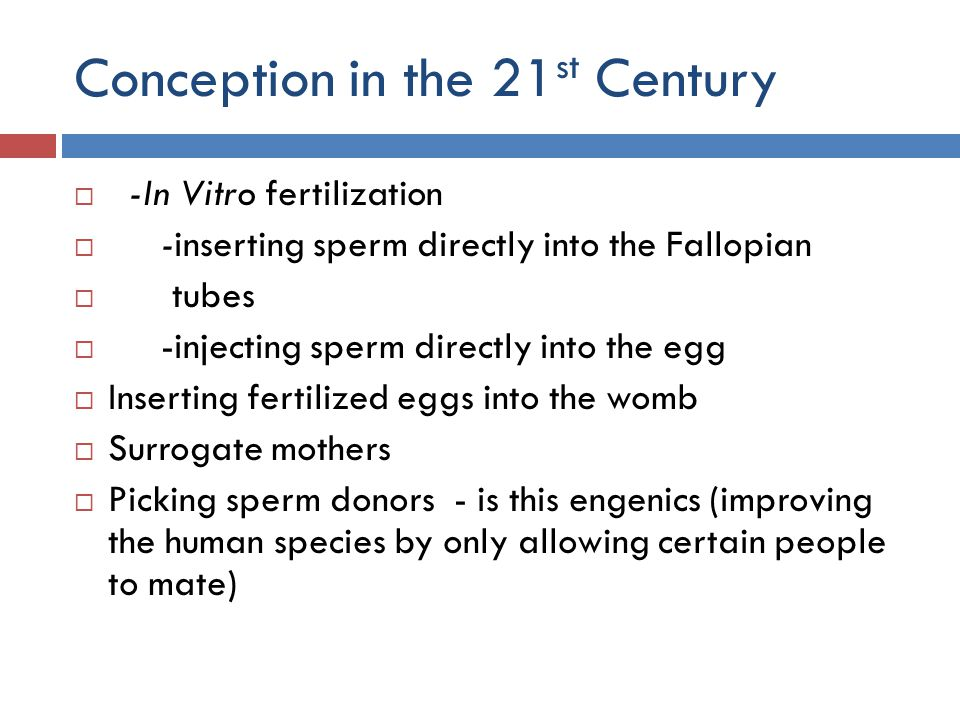 Conception in the 21st Century