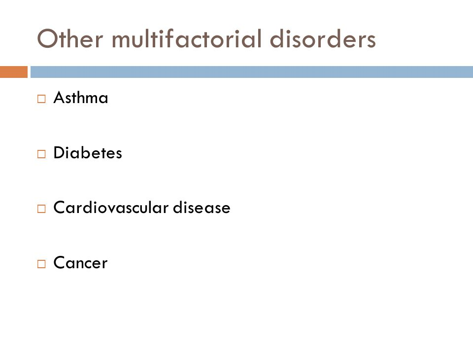 Other multifactorial disorders