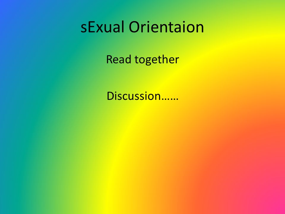Read together Discussion……