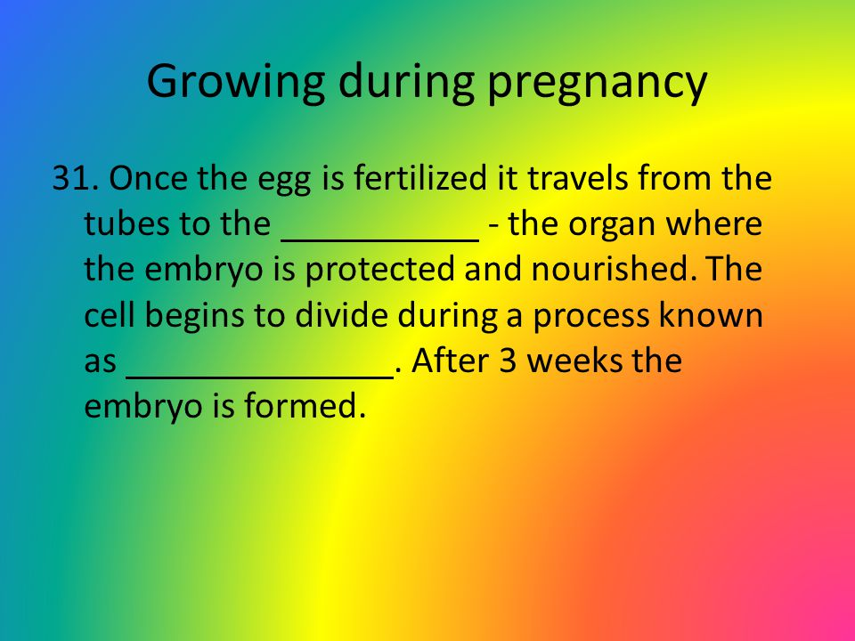 Growing during pregnancy