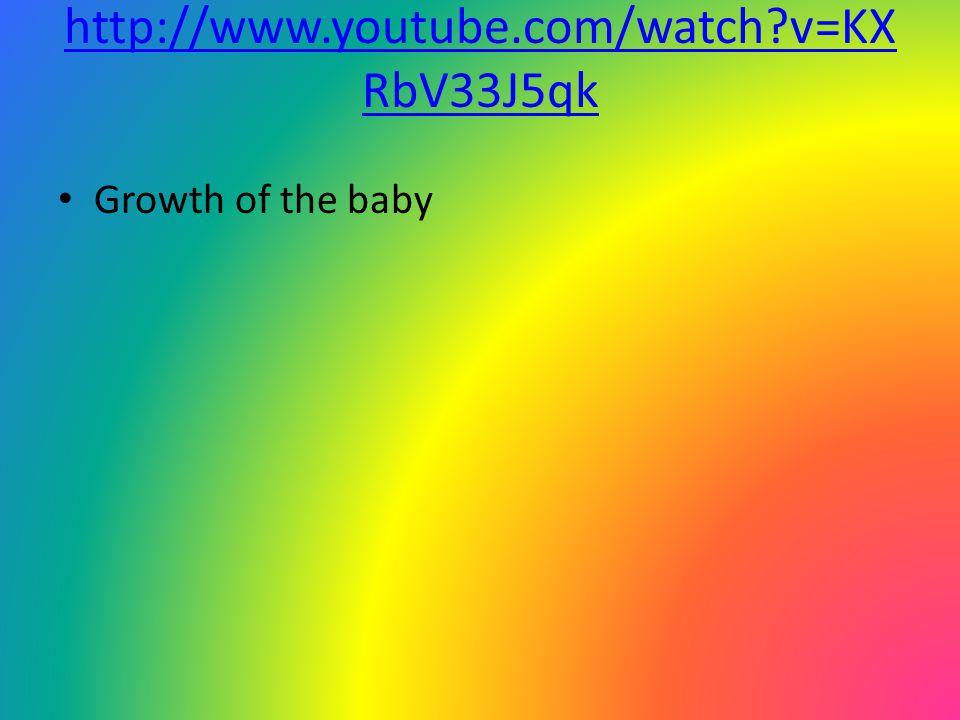 http://www.youtube.com/watch v=KXRbV33J5qk Growth of the baby