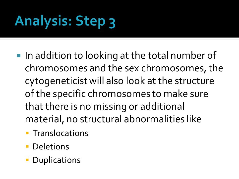 Analysis: Step 3