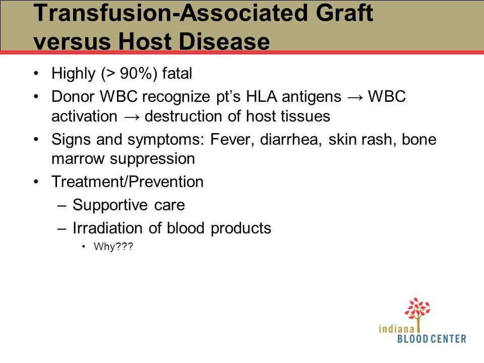 Transfusion-Associated Graft versus Host Disease
