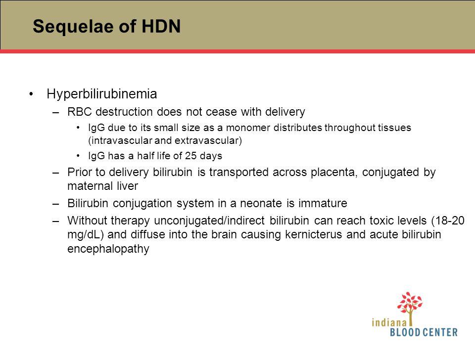 Sequelae of HDN Hyperbilirubinemia