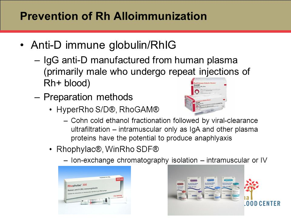 Prevention of Rh Alloimmunization