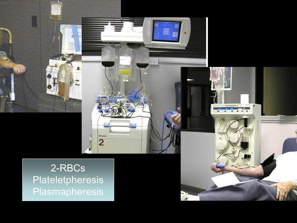 2-RBCs Plateletpheresis Plasmapheresis