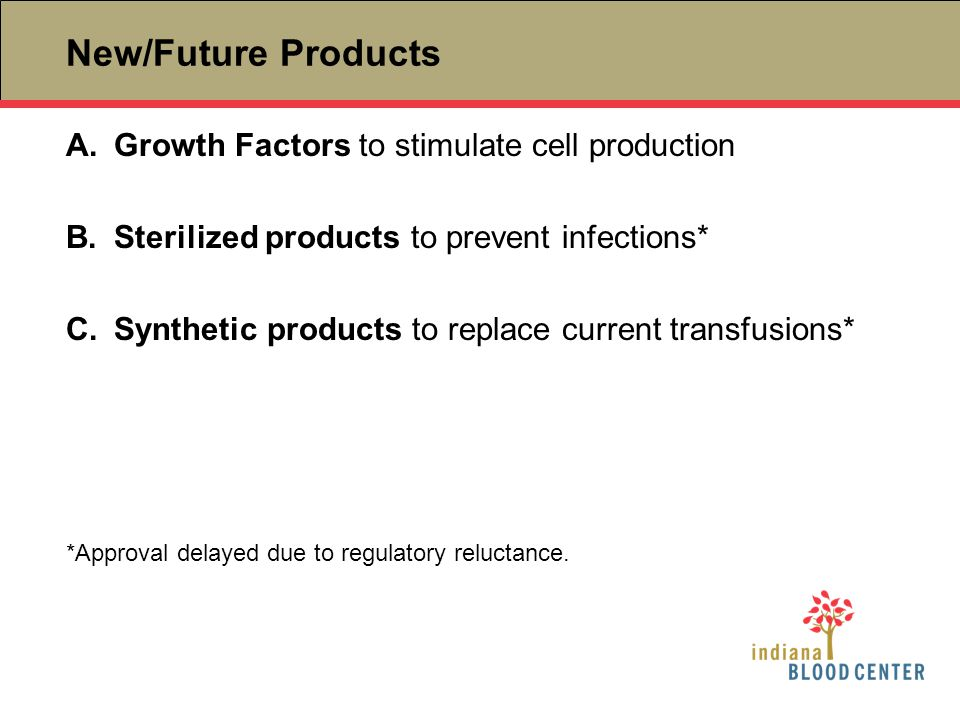 New/Future Products Growth Factors to stimulate cell production