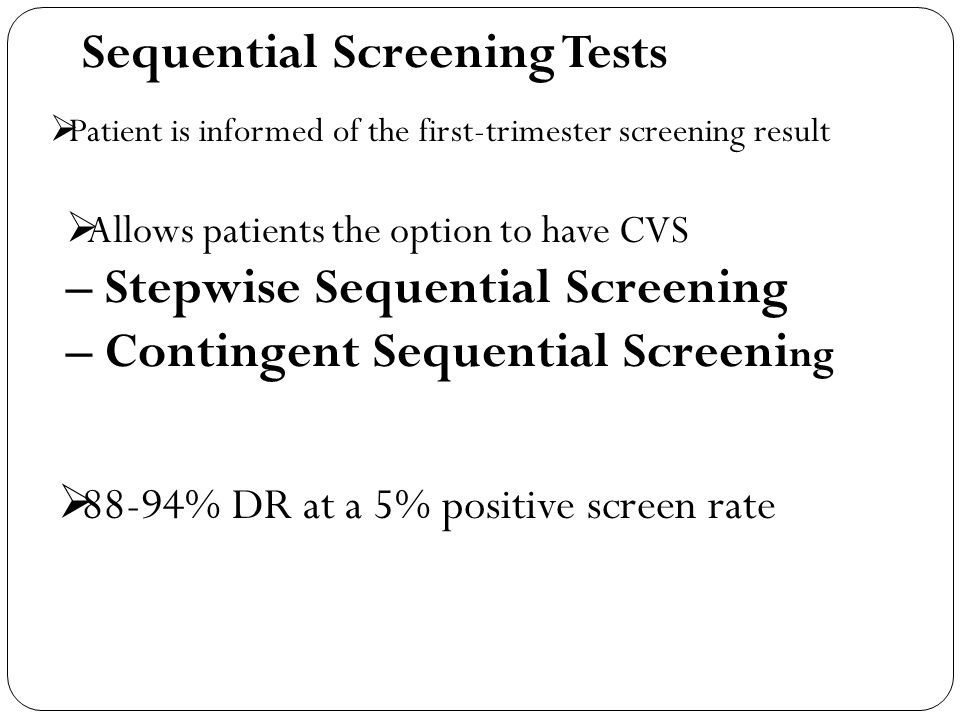 Sequential Screening Tests