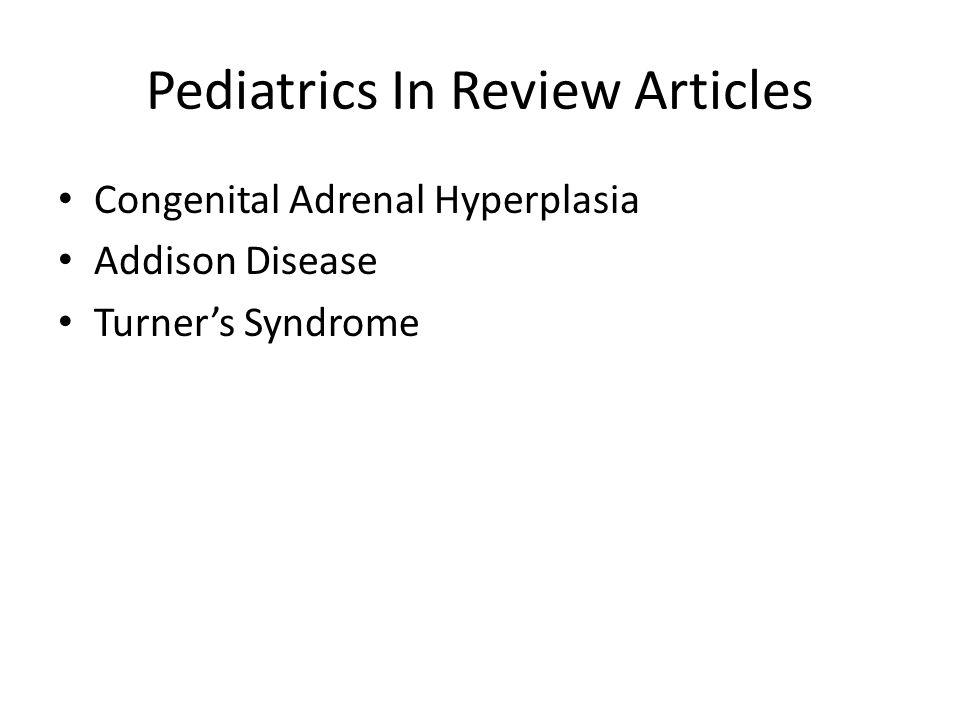 Pediatrics In Review Articles