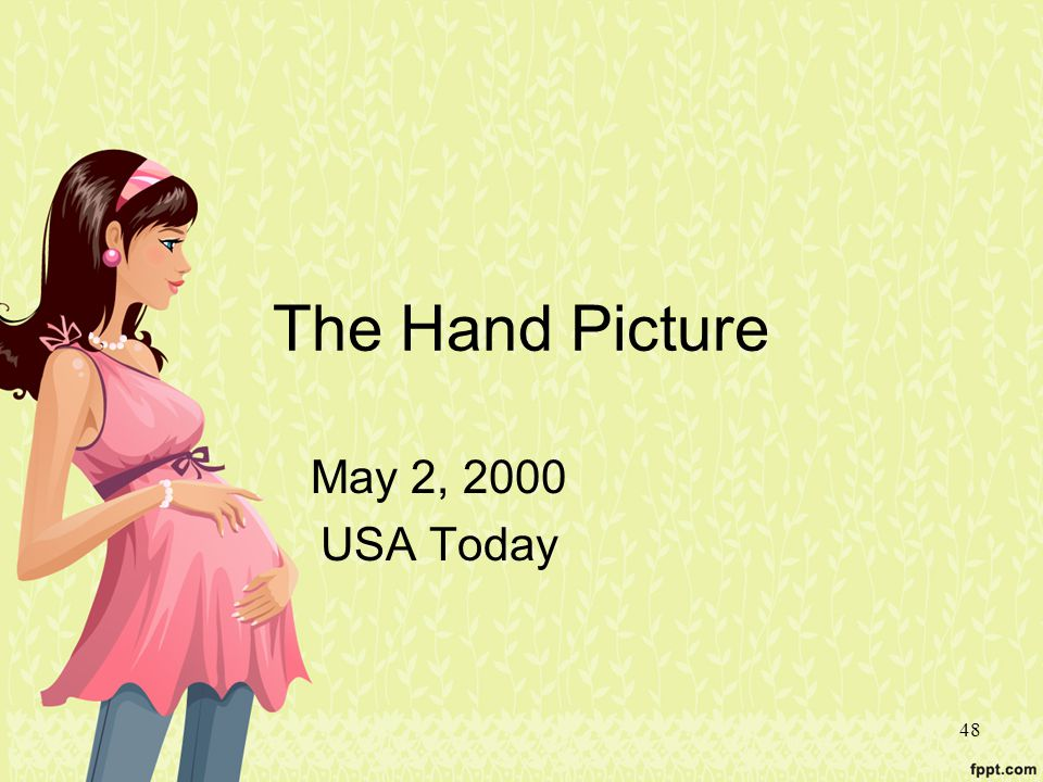 The Hand Picture May 2, 2000 USA Today