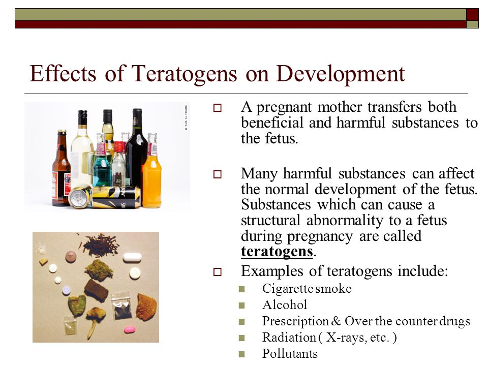 Effects of Teratogens on Development