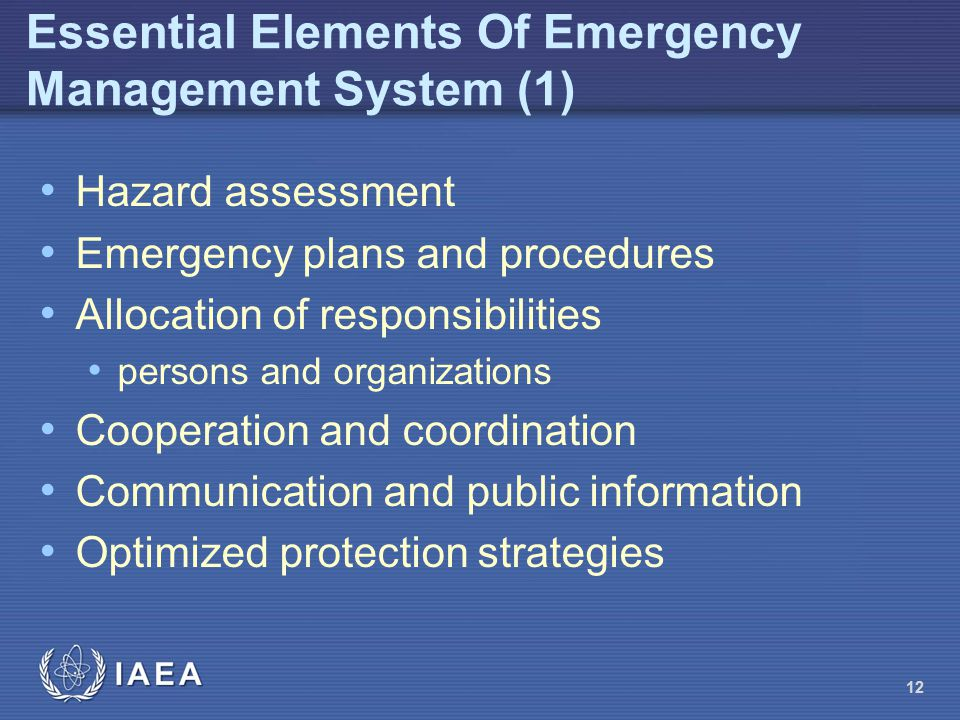 Essential Elements Of Emergency Management System (1)
