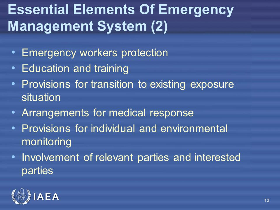 Essential Elements Of Emergency Management System (2)