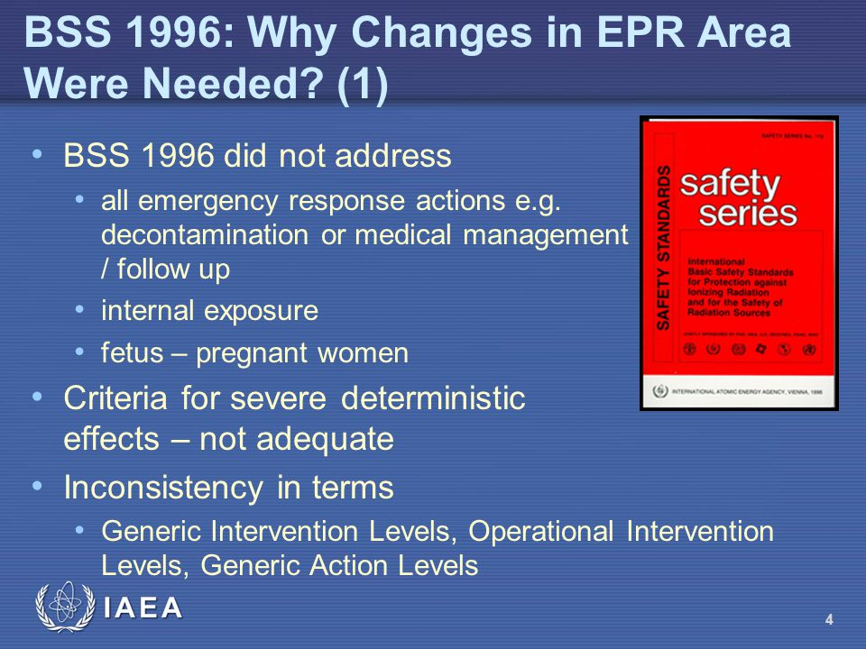 BSS 1996: Why Changes in EPR Area Were Needed (1)