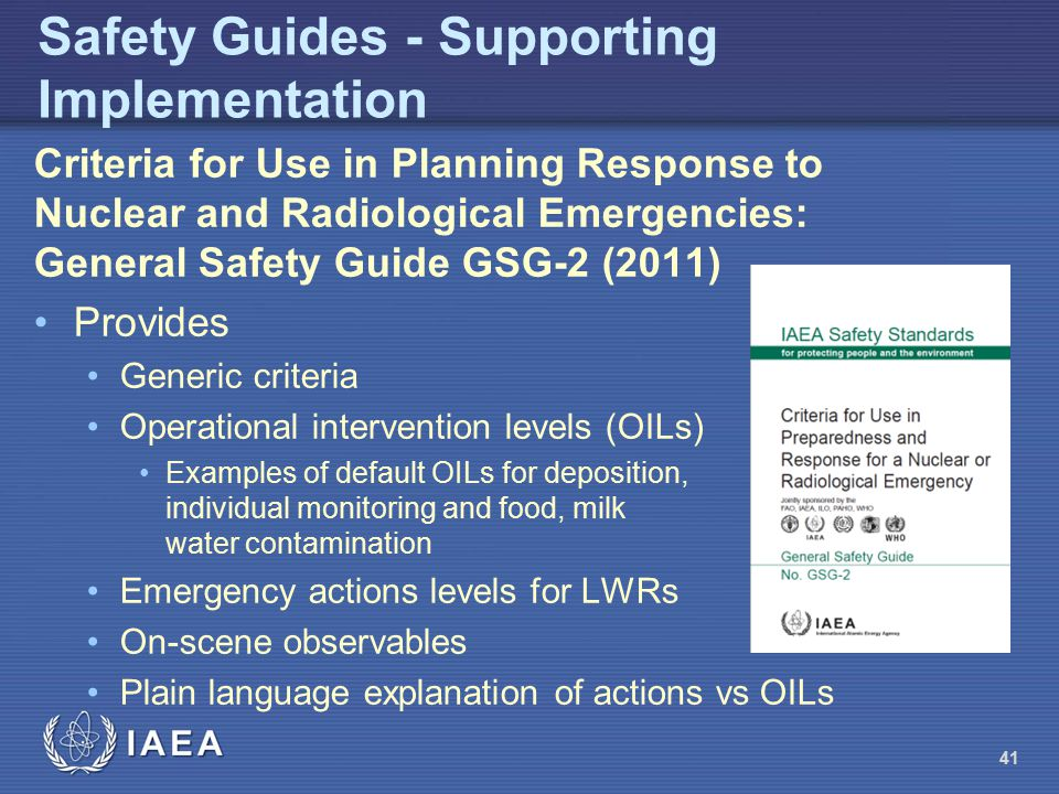 Safety Guides - Supporting Implementation