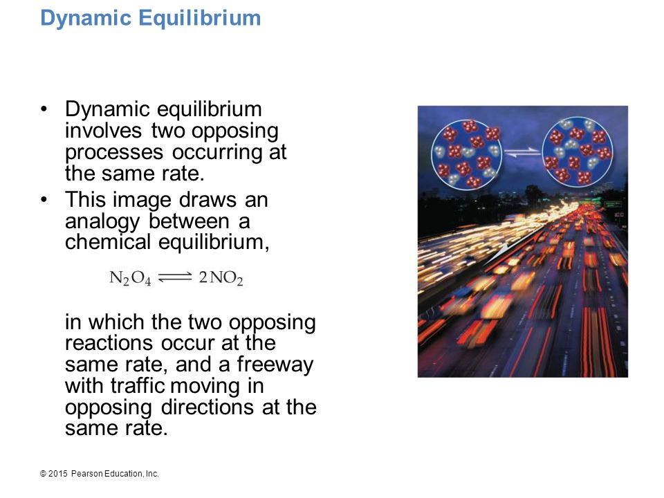 Dynamic Equilibrium Dynamic equilibrium involves two opposing processes occurring at the same rate.