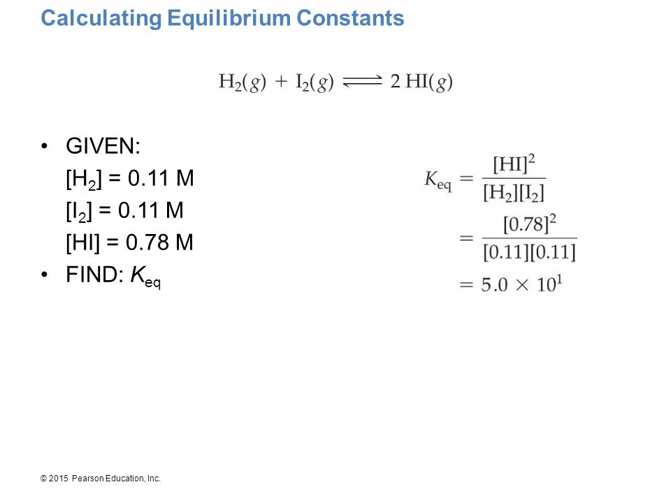 Calculating Equilibrium Constants