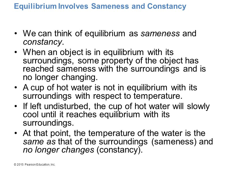 Equilibrium Involves Sameness and Constancy