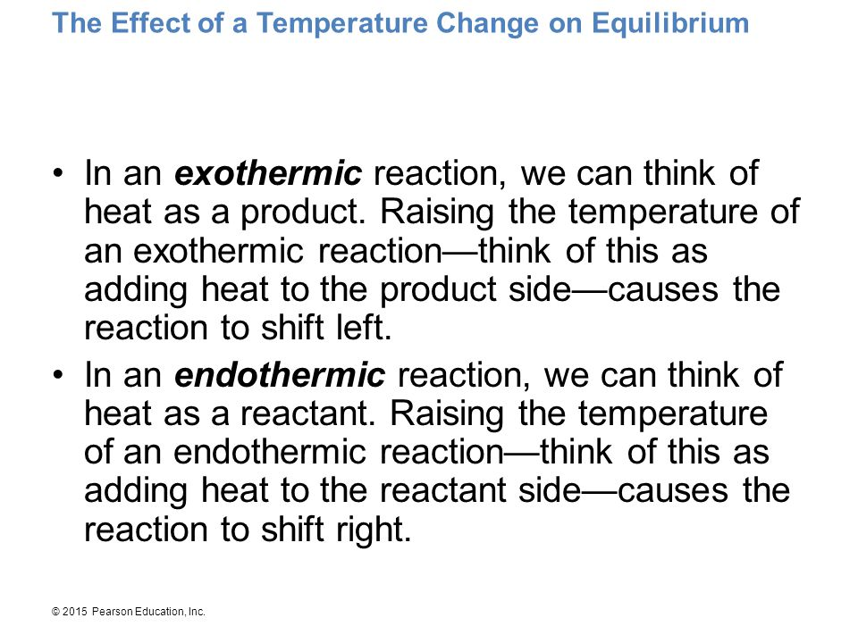 The Effect of a Temperature Change on Equilibrium