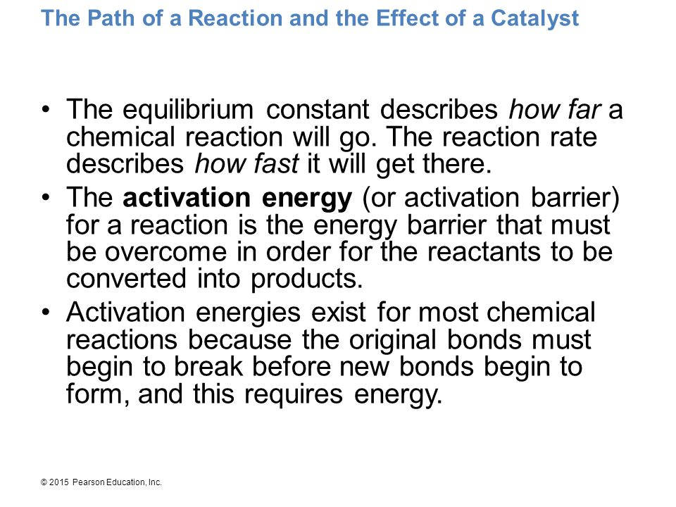 The Path of a Reaction and the Effect of a Catalyst