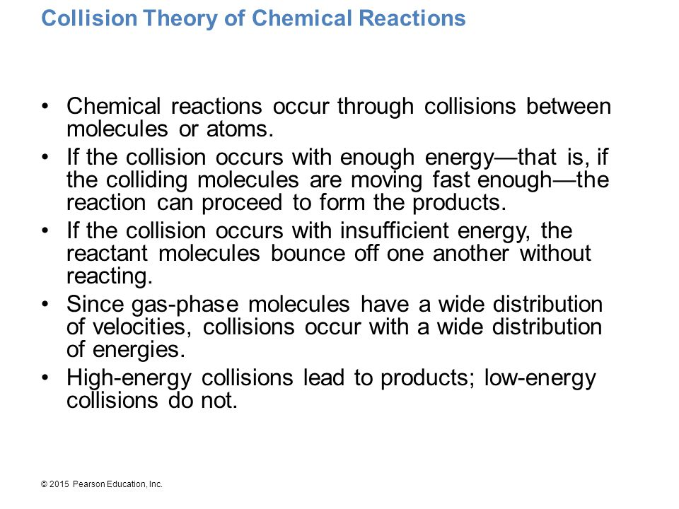 Collision Theory of Chemical Reactions