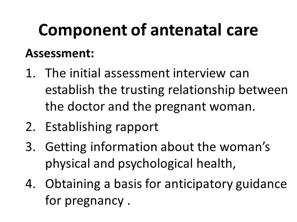 Component of antenatal care
