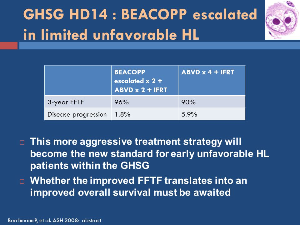 GHSG HD14 : BEACOPP escalated in limited unfavorable HL