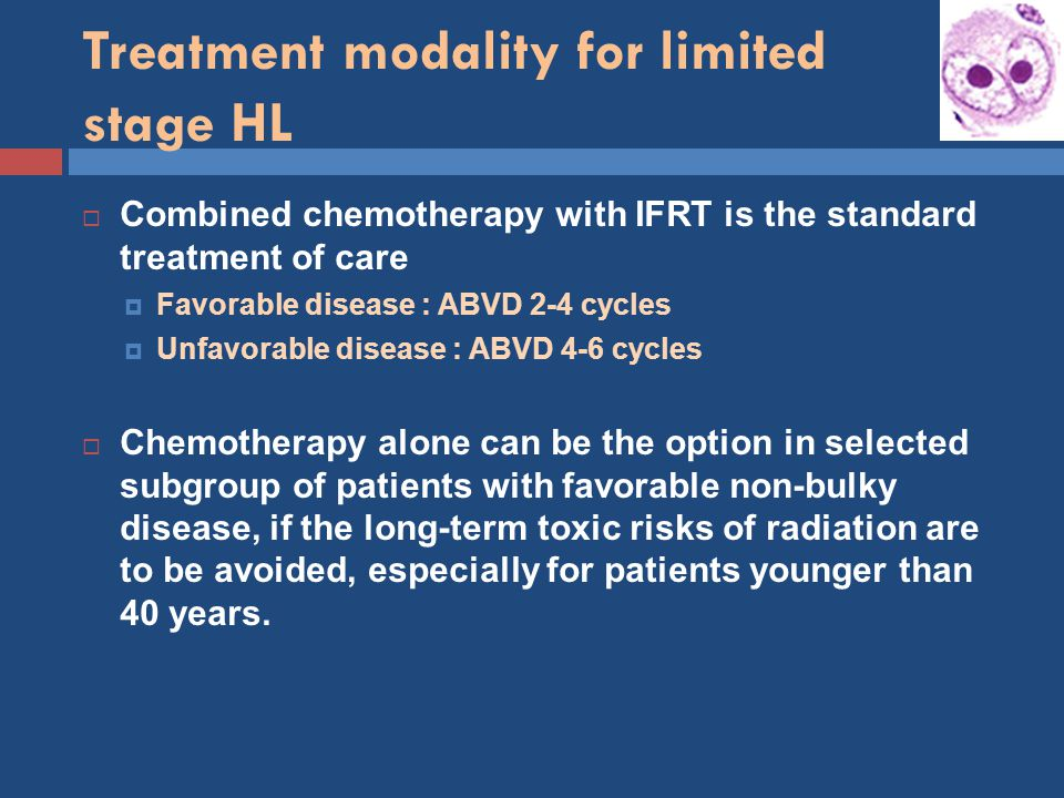 Treatment modality for limited stage HL