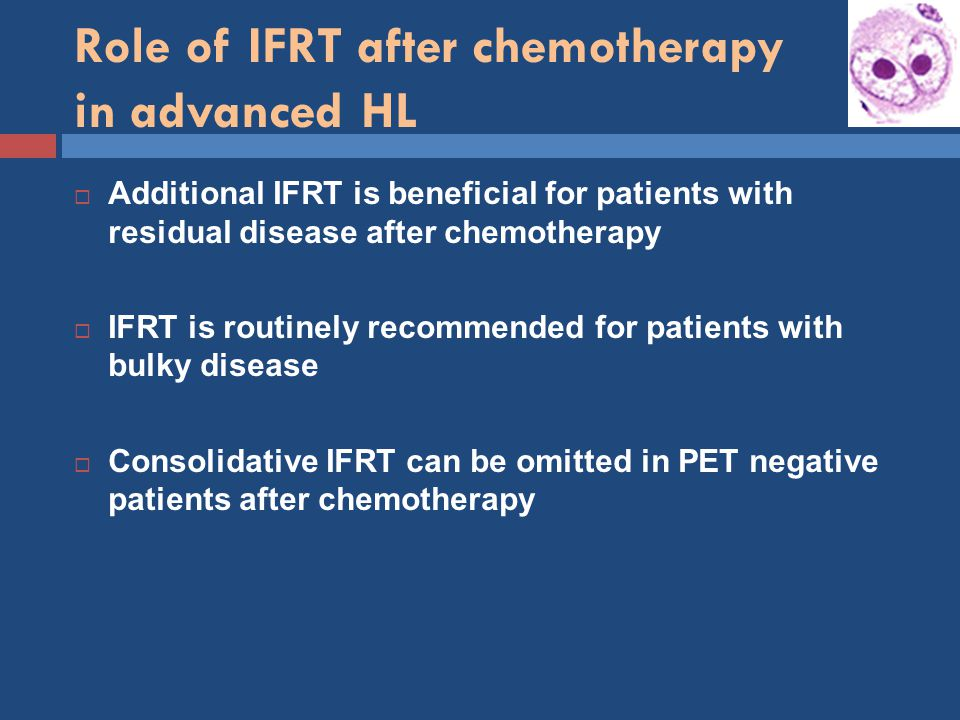Role of IFRT after chemotherapy in advanced HL